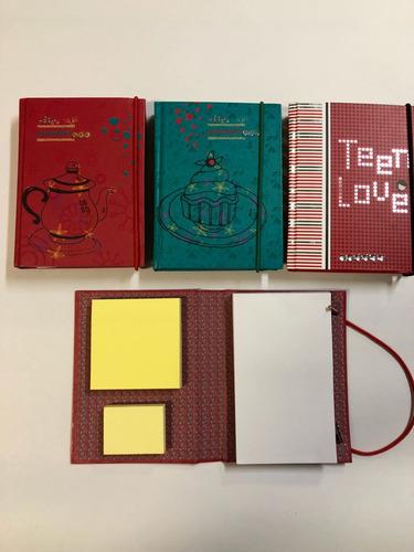 cuaderno set anotador con elástico