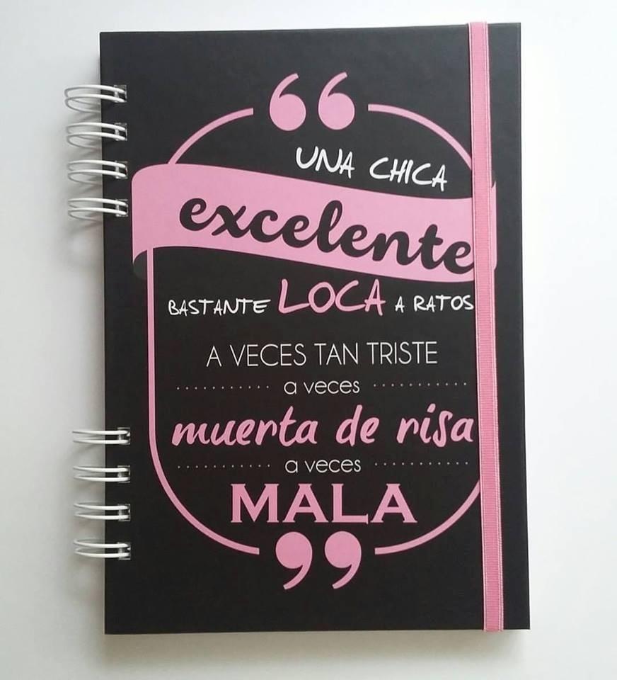 Cuaderno Tapa Dura Con Frase 14x20cm Libretas Anotadores