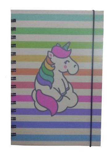 cuaderno tapa dura unicornio - escuela - liceo