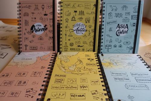 cuaderno temático de viajes