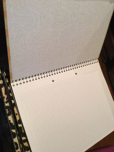 cuaderno universitario animal print leopardo - cuadric 80 h