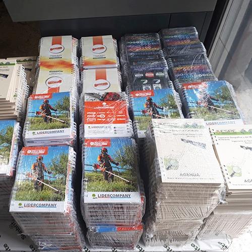 cuadernos agendas corporativas personalizadas anillados 2020
