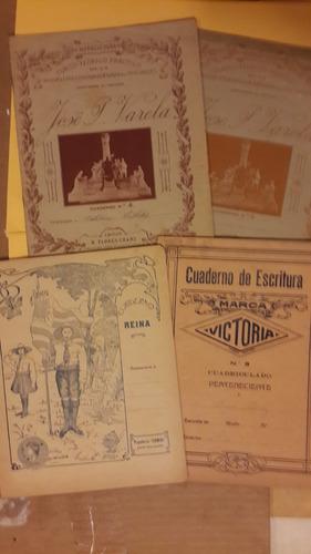 cuadernos antiguos 4 1922, reina, flores chans, victoria 001