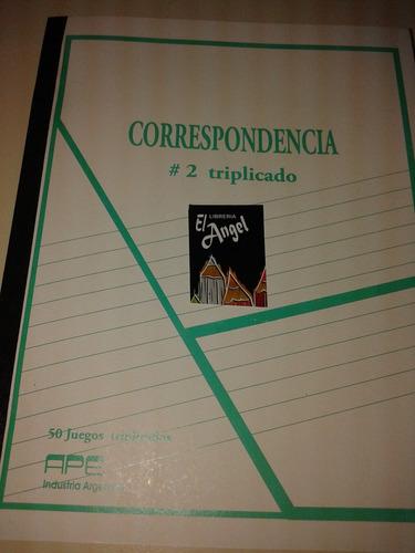 cuadernos correspondencia triplicado nº2 libro obras