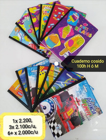 Cuadernos De 100 Hojas Cuadriculado