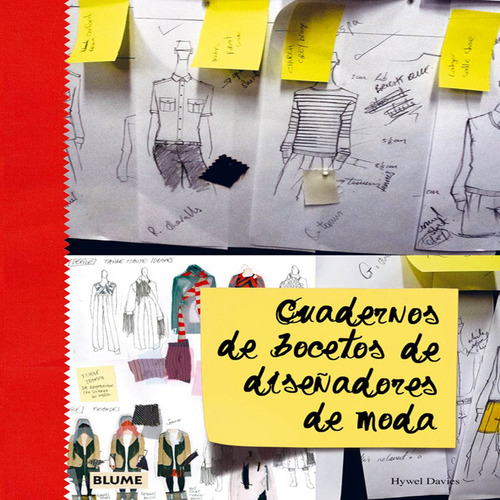cuadernos de bocetos de diseñadores de moda de davies hywel
