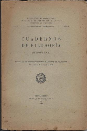 cuadernos de filosofía 1 (2). 1949.