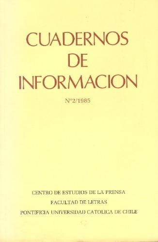 cuadernos de información - nº 2 / 1985.