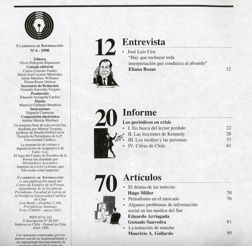 cuadernos de información, nº 8 - 1993 - univ. católica de ch