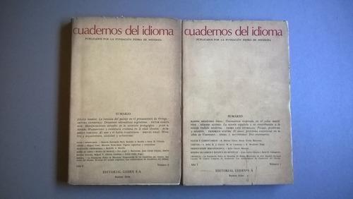 cuadernos del idioma fundación pedro de mendoza battistessa