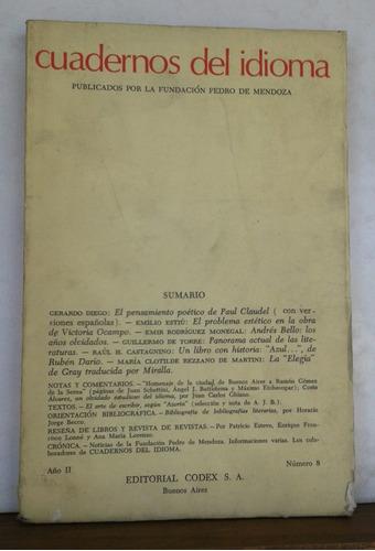 cuadernos del idioma número 8 - ed. codex