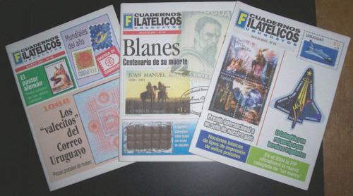 cuadernos filatélicos uruguayos x 7 números