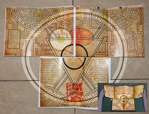 cuadernos gravity falls 1, 2 y 3 con portal y marcador