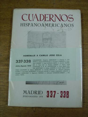 cuadernos hispanoamericanos 337-338 julio - agost . 1978