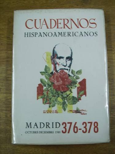 cuadernos hispanoamericanos 376-378 agost .- sep. 1990