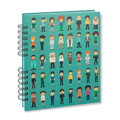 cuadernos libretas 200 pag / hojas blancas /  mod.: personas