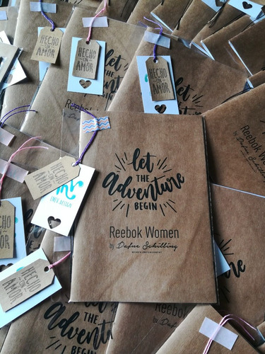 cuadernos libretas personalizadas souvenir papel kraft