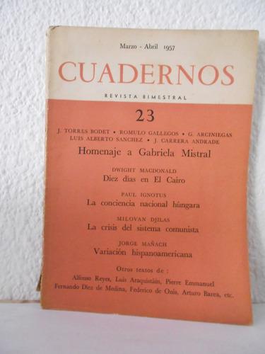 cuadernos nº 23 - vv aa - gabriela mistral - paris - 1957.