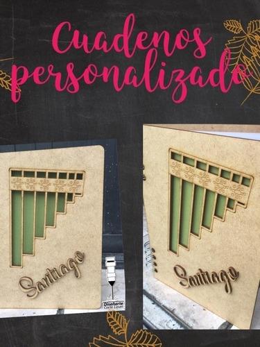cuadernos personalizados en madera