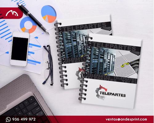 cuadernos publicitarios, corporativos