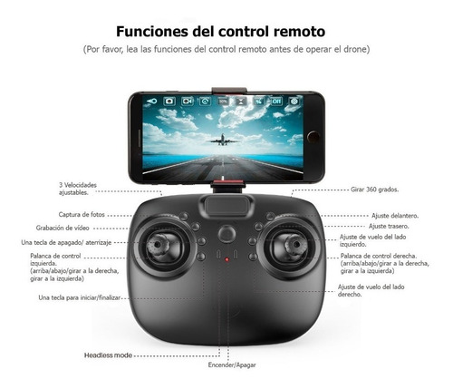 cuadricoptero dron con camara fotográfica y video wifi jy801