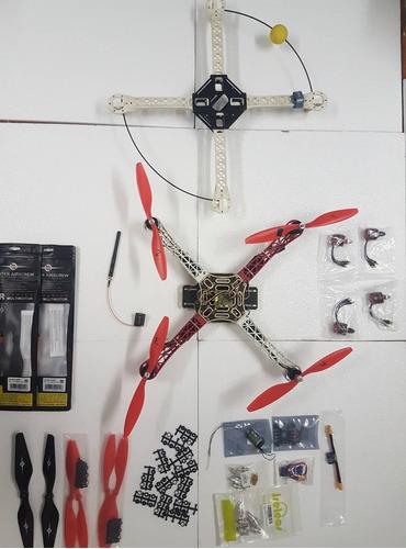 cuadricóptero frame-motores-controladores-hélices-ejes