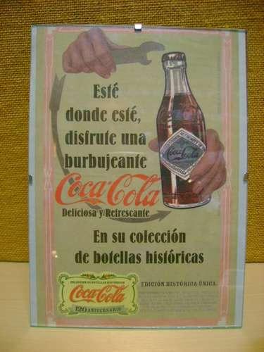 cuadrito con publicidad  de coca cola