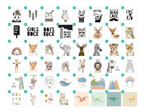 cuadrito infantil / chicos / bebes. box. cute animals