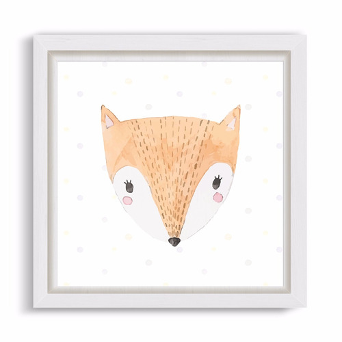 cuadrito infantil / chicos / bebes. box. cute fox
