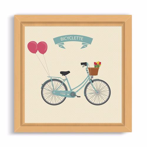 cuadrito infantil / chicos / bebes. box. dibujo bicyclette