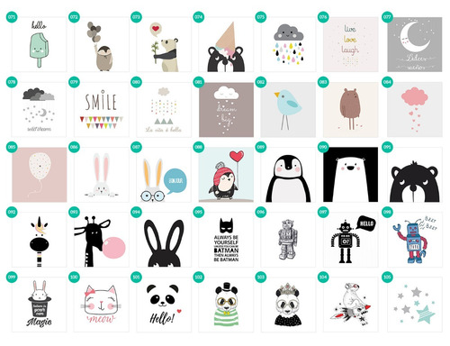 cuadrito infantil / chicos / bebes. box. dibujo cute rabbit
