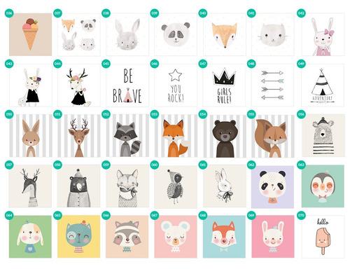 cuadrito infantil / chicos / bebes. box. dibujo deer/reno