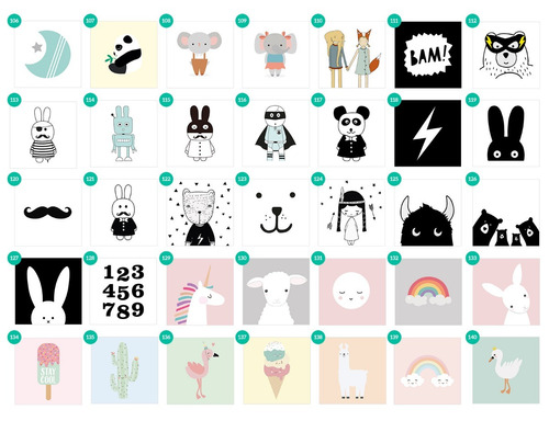cuadrito infantil / chicos / bebes. box. dibujo hello tiger