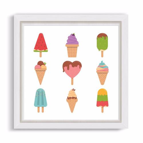 cuadrito infantil / chicos / bebes. box. ice creams