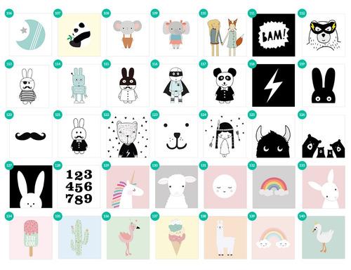 cuadrito infantil / chicos / bebes. box. owl / búho
