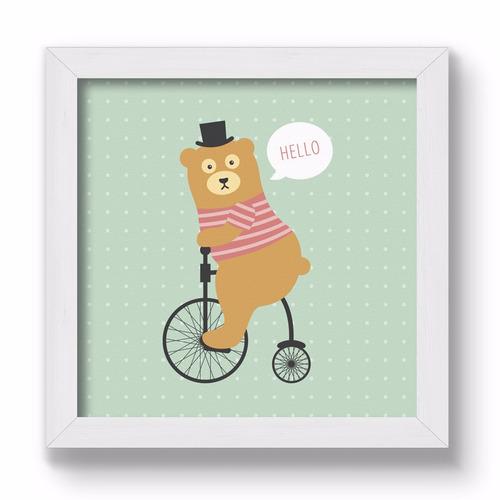 cuadrito infantil / chicos / bebes. chato. hello bear