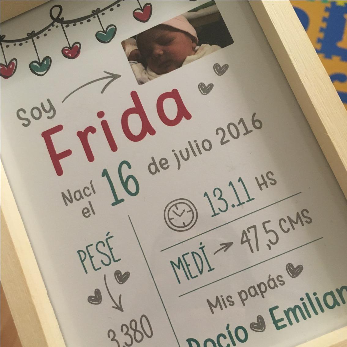 Cuadrito Nacimiento Personalizado Cuadro Bebé Personalizado - $ 360 ...
