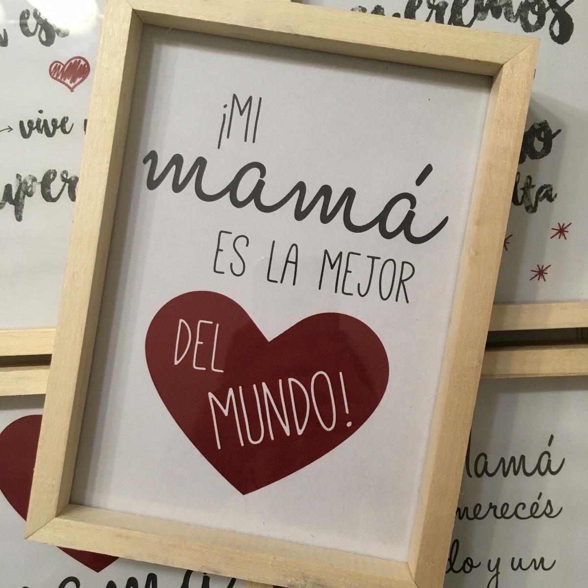Cuadritos Cuadros Día De La Madre Marco Box Madera 13x18 Cm - $ 240 ...