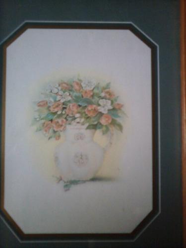 cuadritos decorativos de cocina en madera tema flores