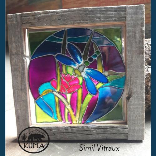 cuadritos simil vitraux hechos a mano