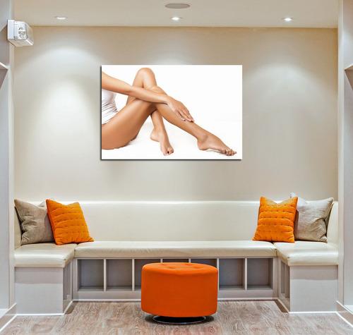 cuadro 20x30cm estetica corporal depilacion piernas crema