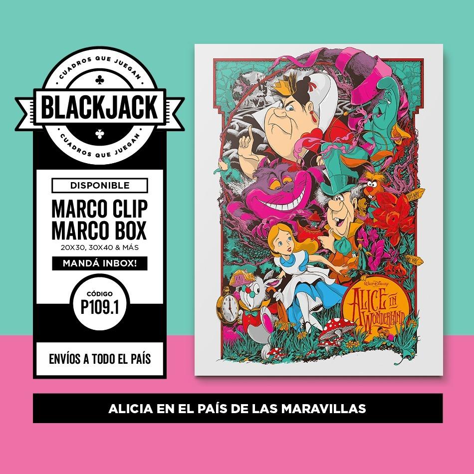 Cuadro 30x40 Alicia En El Pais De Las Maravillas Regalo - $ 400,00 ...