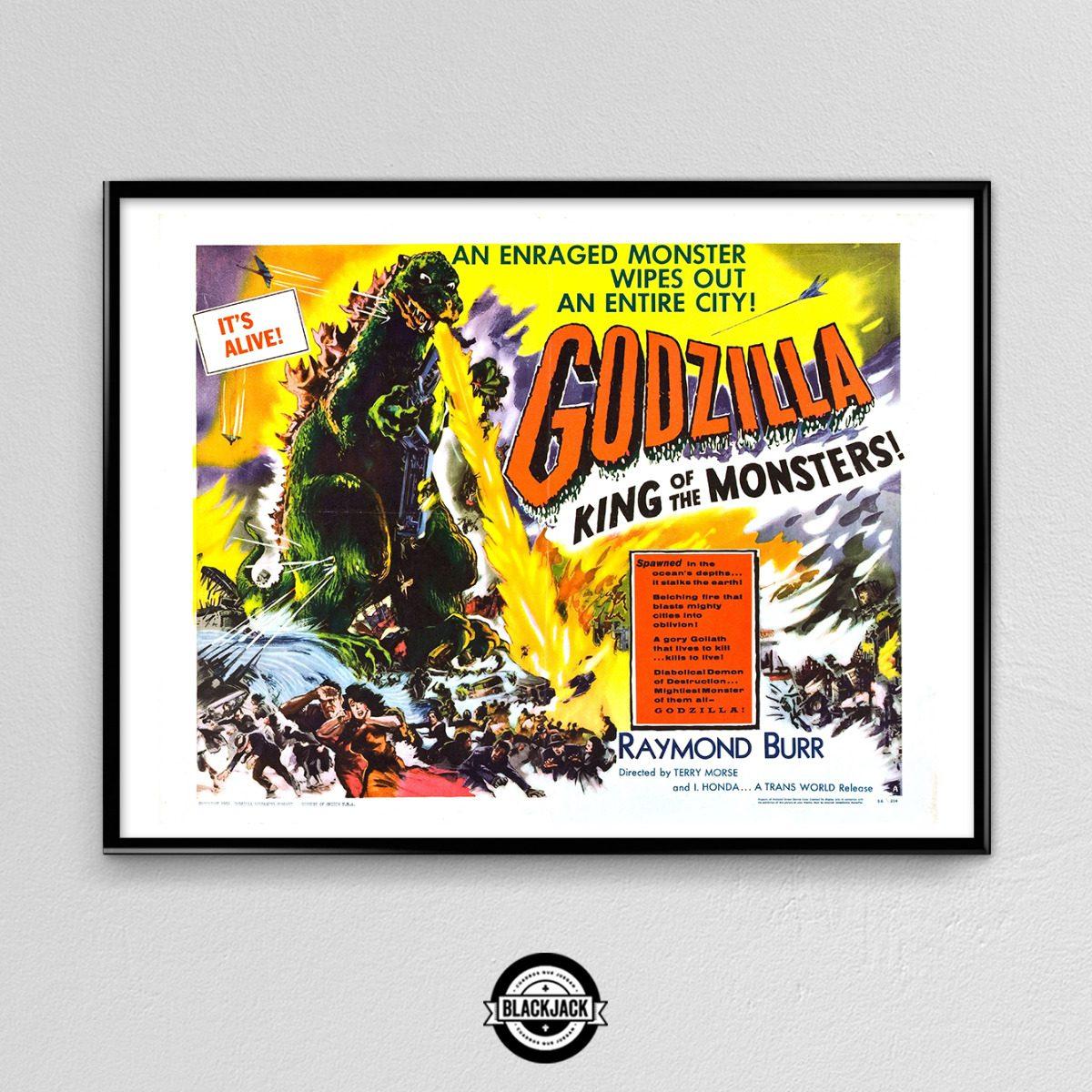 Cuadro 30x40 Marco Slim Godzilla Pelicula Cine Regalo Deco 4 - $ 499 ...