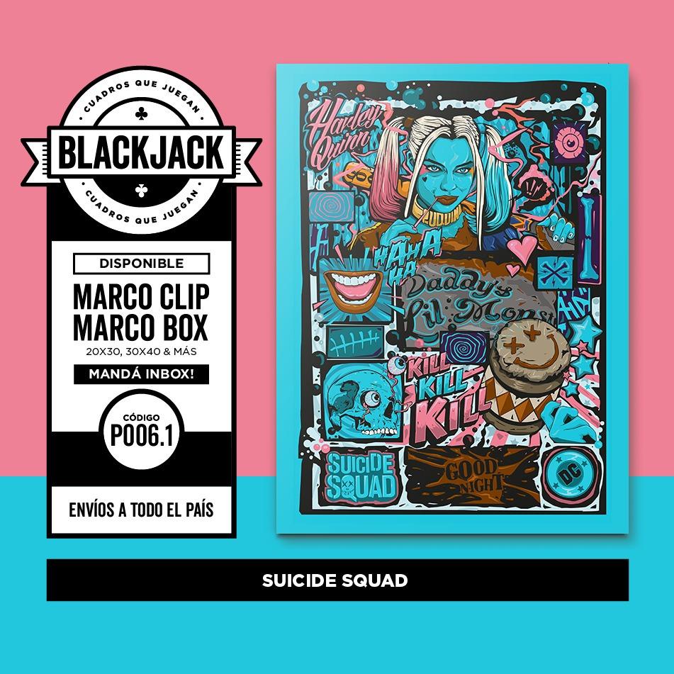 Cuadro 30x40 Marco Slim Harley Quinn Suicide Squad Regalo - $ 499,50 ...