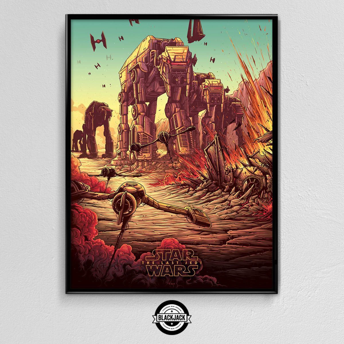 Cuadro 30x40 Marco Slim Star Wars Pelicula Deco Cine 13 - $ 499,50 ...