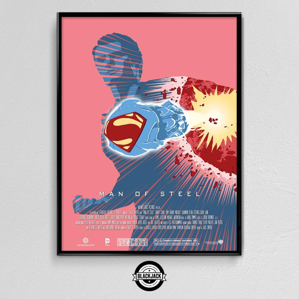 Cuadro 30x40 Marco Slim Superman Regalo Cine Retro Deco - $ 400,00 ...