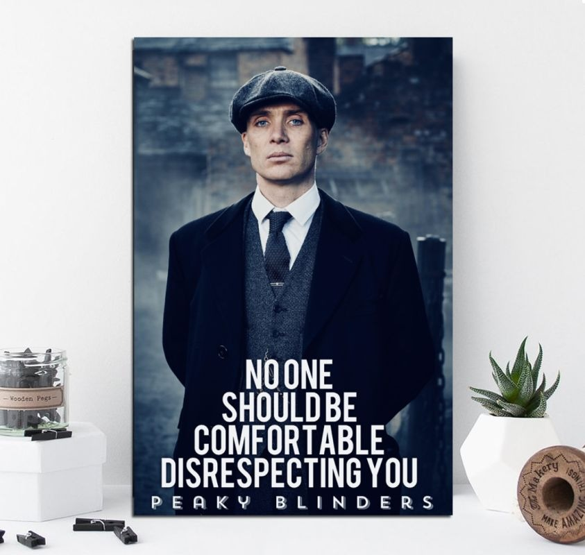 Cuadro 30x45cm Peaky Blinders Tommy Shelby Frases