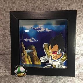 Goku Dragon Ball Z Cuadro en 3D