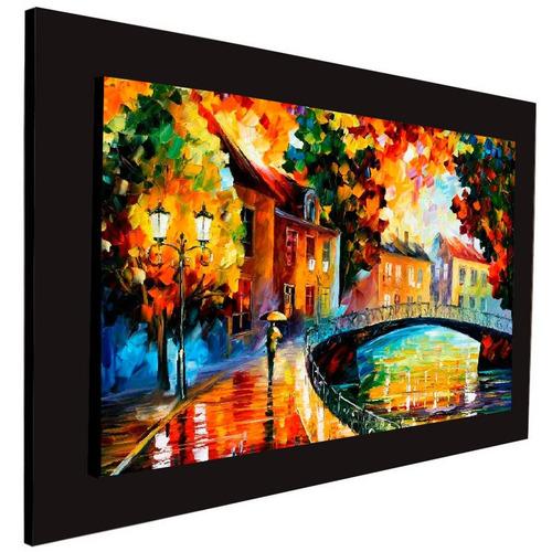 cuadro 60x40 cms decorativo tipo oleo puente 1+envío gratis