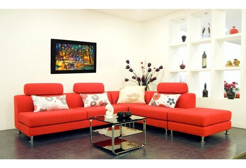 cuadro 60x40 cms decorativo tipo oleo puente 4+envío gratis